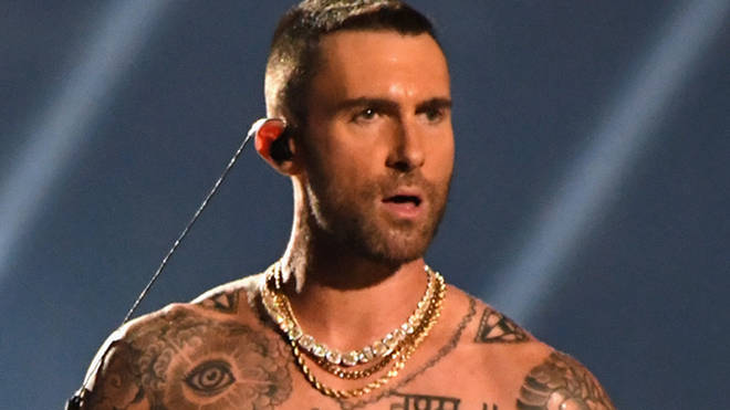 2152481e Adam Levine's nipples at the Super Bowl are being called out on Twitter