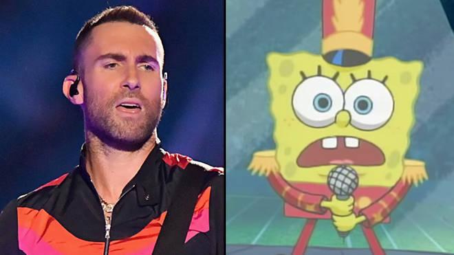 SpongeBob's Super Bowl performances was interrupted by Travis Scott's Sicko Mode