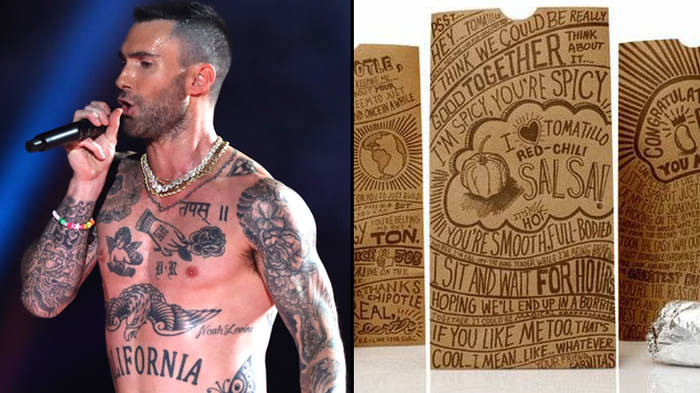 8750db14 Adam Levine's nipples at the Super Bowl are being called out on Twitter -  PopBuzz