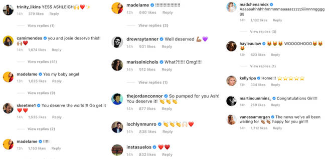 Ashleigh Murray's cast mates congratulate her new on her new TV show