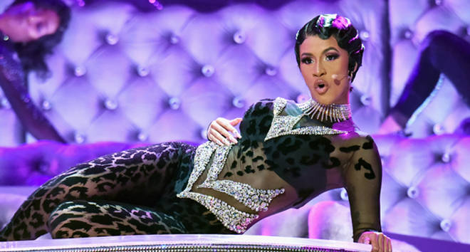 Cardi B's performance during the 61st Annual GRAMMY Awards.