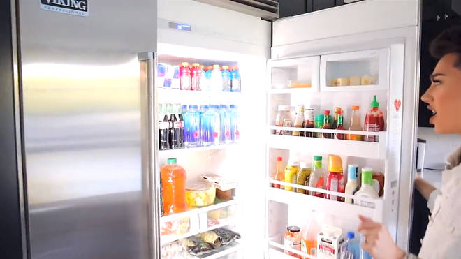 james charles house fridge