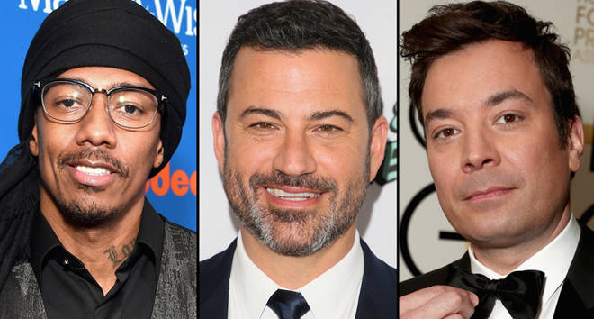 Nick Cannon, Jimmy Kimmel and Jimmy Fallon.