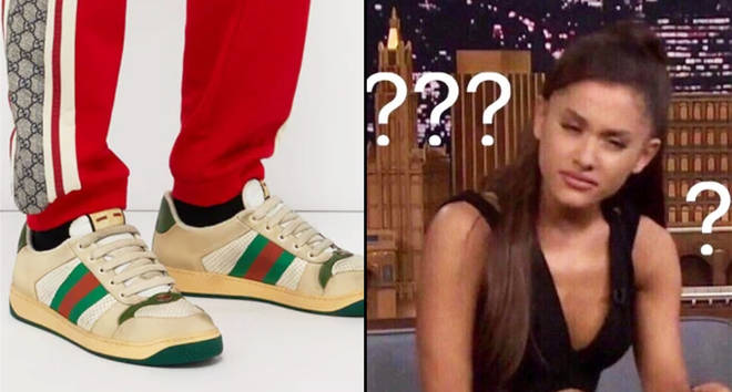 "Gucci ""dirty"" trainers/Ariana Grande confused"