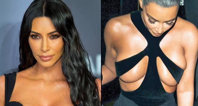 Kim Kardashian in black dresses.