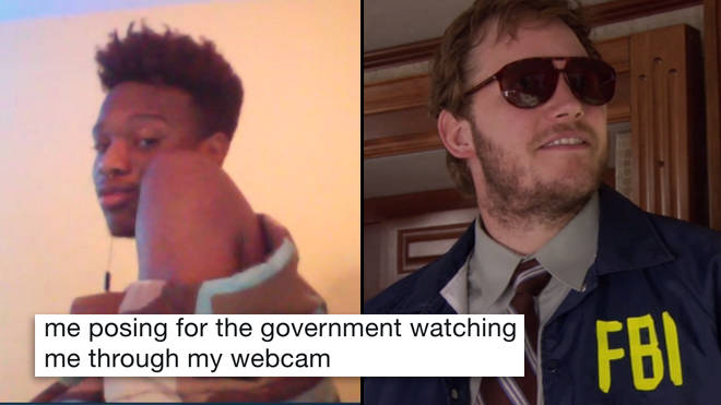 FBI Man Meme, Webcam, Government