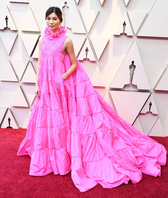 Gemma Chan arrives at the 91st Annual Academy Awards.