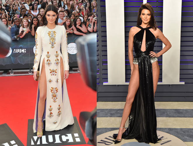 Kendall Jenner in 2014 and Kendall Jenner in 2019