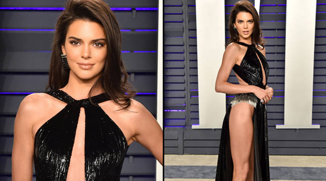 Kendall Jenner wears an almost naked dress to the Vanity Fair Oscars party
