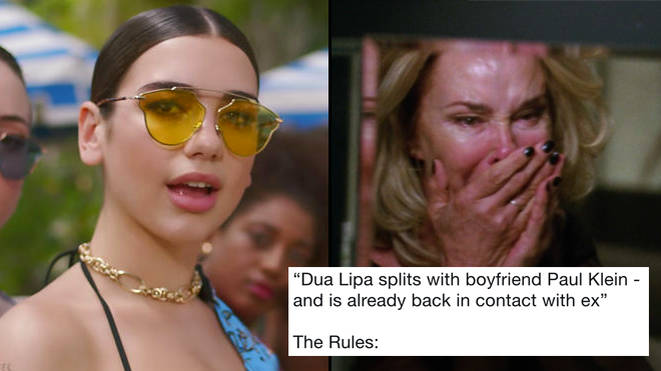 People Are Sending Dua Lipa New Rules Memes After Splitting With Her Boyfriend PopBuzz