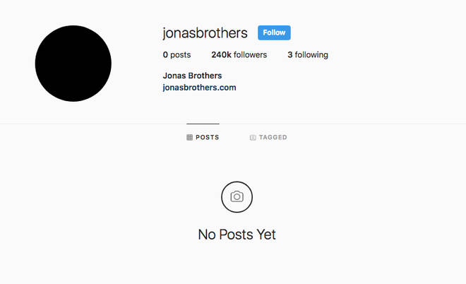 Jonas Brothers Instagram Page