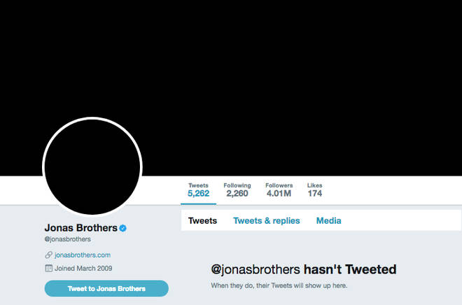 Jonas Brothers Twitter Page