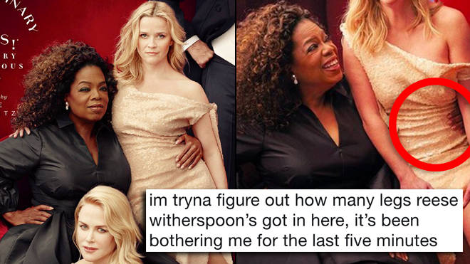Reese Witherspoon, Oprah Winfrey, Vanity Fair, Three Legs, Three Hands, Photoshop Fail