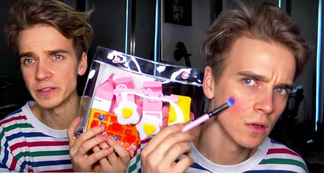 joe sugg zoe sugg colourpop makeup collection makeover