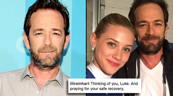 Luke Perry's co-stars are sending messages of support on Instagram