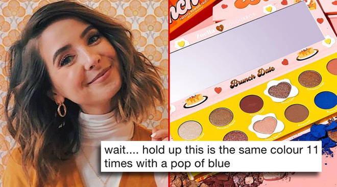"People are calling out Zoella&squot;s ColourPop eyeshadow palette for being ""boring"""