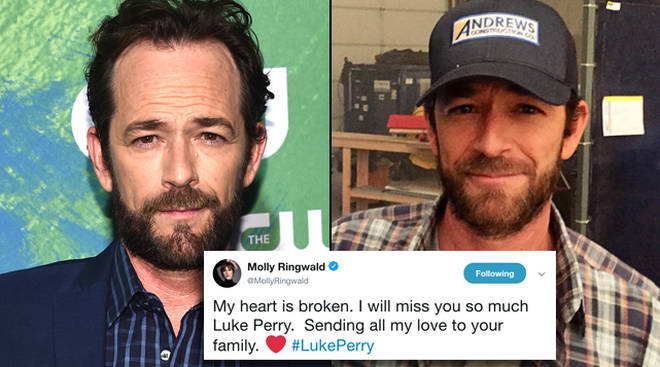 Luke Perry's friends and co-stars are sharing tributes to the beloved actor on social media