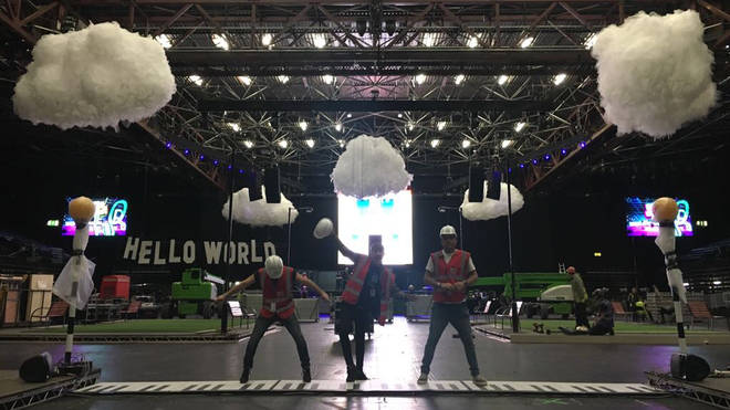 Hello World organisers during the build of the 2017 event