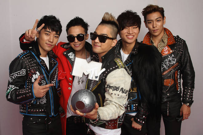 BIGBANG at the MTV Europe Music Awards 2011.