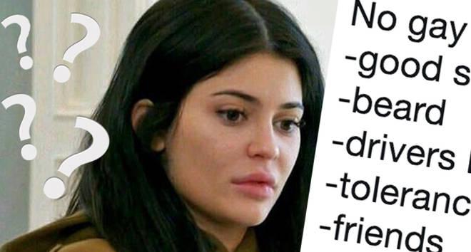Kylie Jenner confused/No gay tweet