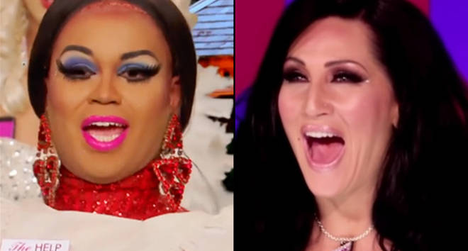 Mercedes Iman Diamond in RuPaul's Drag Race/Michelle Visage laughing