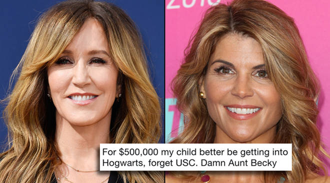 Felicity Huffman and Lori Laughlin are being roasted on Twitter about their alleged college scam