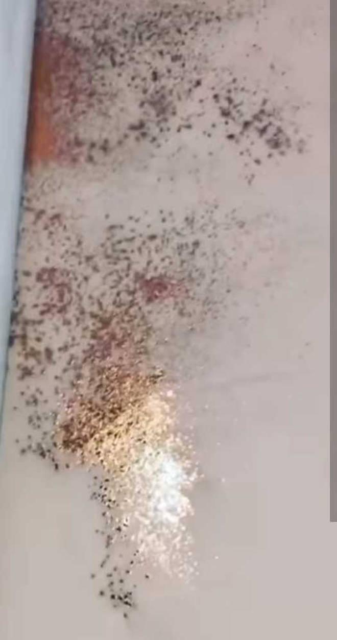 Kylie Jenner glitter wall