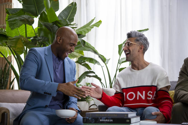 Karamo and Tan on Queer Eye