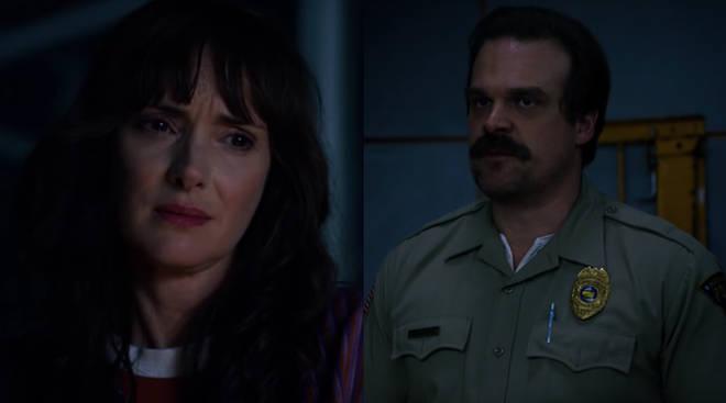 Joyce and Hopper in Stranger Things 3