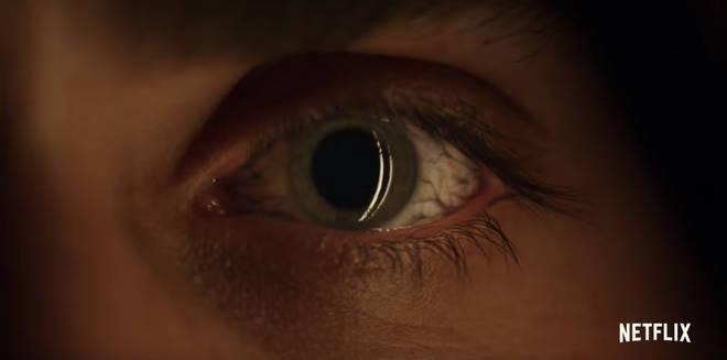 An eye appears in the trailer for Stranger Things 3