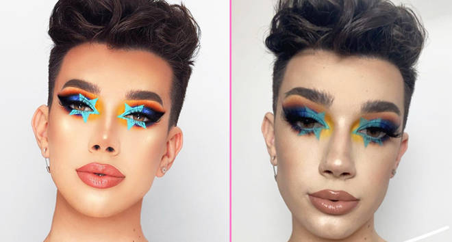 James Charles addresses Photoshopping his pictures.