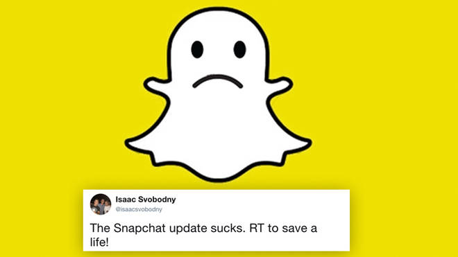 most retweeted tweet snapchat update issac svobodny