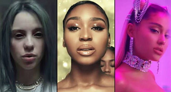 Billie Eilish Normani and Ariana Grande music videos
