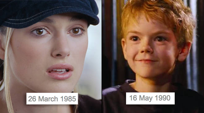 Love Actually Ages Keira Knightley Thomas Brodie Sangster