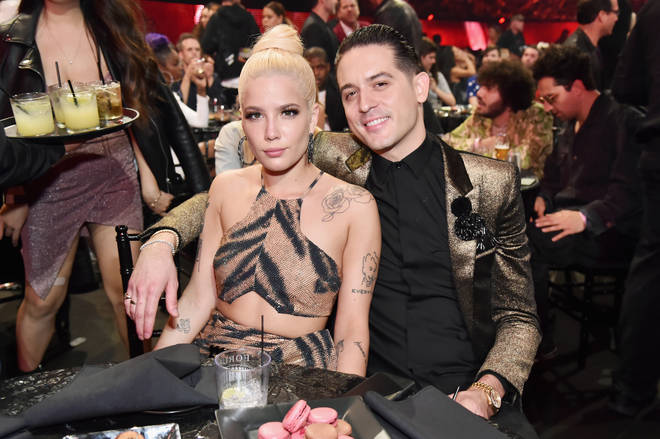 Halseyand G-Eazy attend the 2018 iHeartRadio Music Awards.