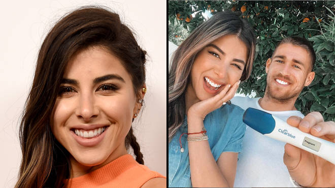 Daniella Monet announces that she is pregnant and is hoping for a baby boy