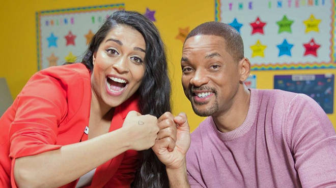 Lilly Singh with Will Smith