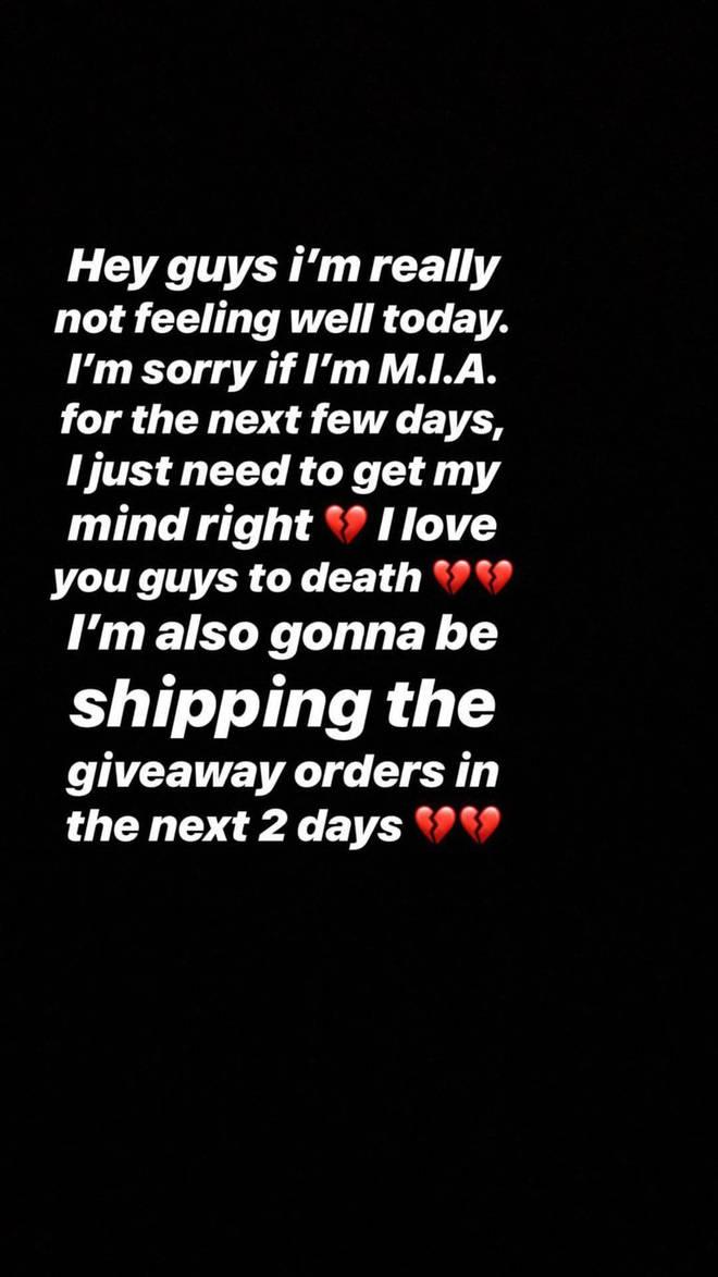 Lil Xan Instagram Story.