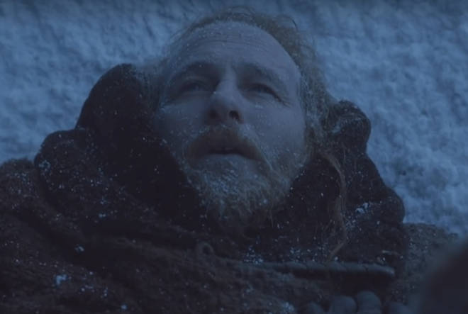Thoros of Myr froze to death while helping Jon Snow against the White Walkers