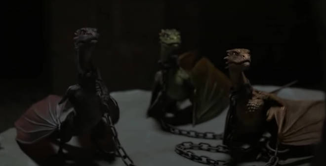 Daenery's dragons are named after her late husband and brothers
