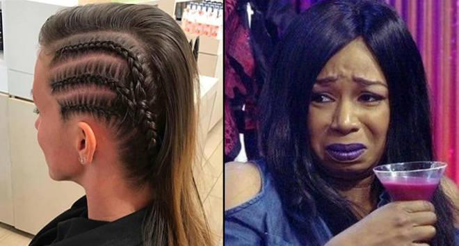 A woman with braids/Tiffany Pollard on Big Brother