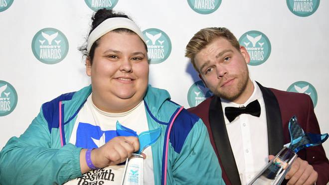 Elijah Daniel And Christine Sydelko at the Shorty Awards
