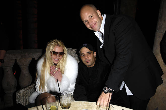 Britney Spears celebrates her birthday with Sam lufti and designer Ole Lynggaard.