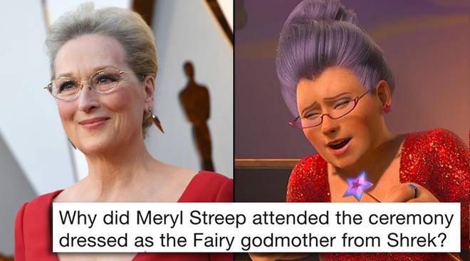 Meryl Streep Fairy Godmother Shrek Oscars 2018