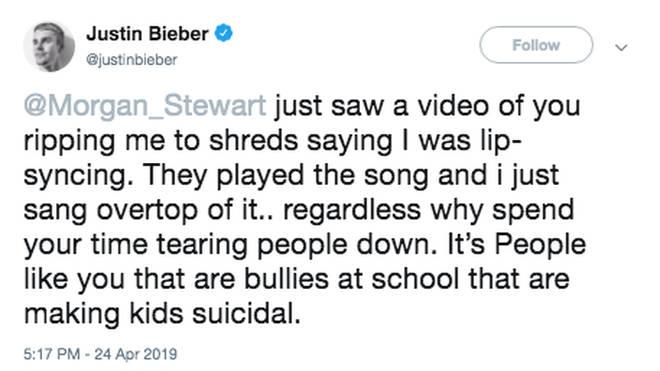 Justin Bieber addresses coachella lip sync criticism