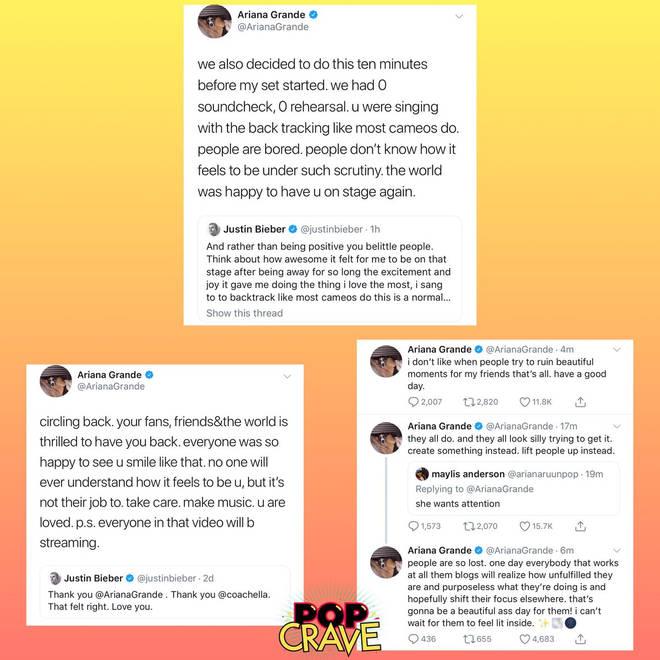 Ariana Grande coachella response