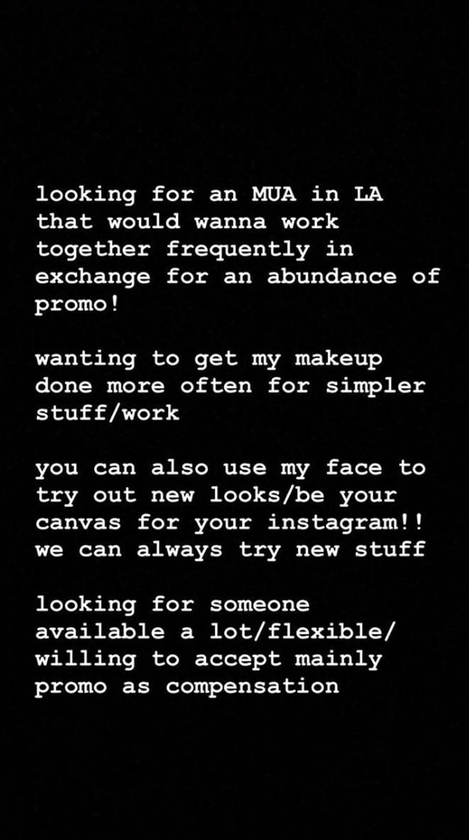Tana Mongeau's Instagram Story.