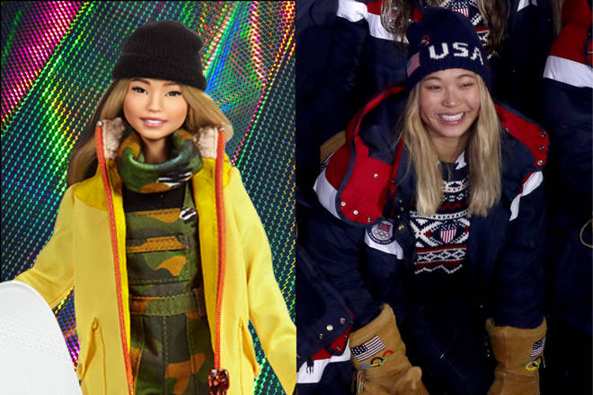 Chloe Kim and her doll