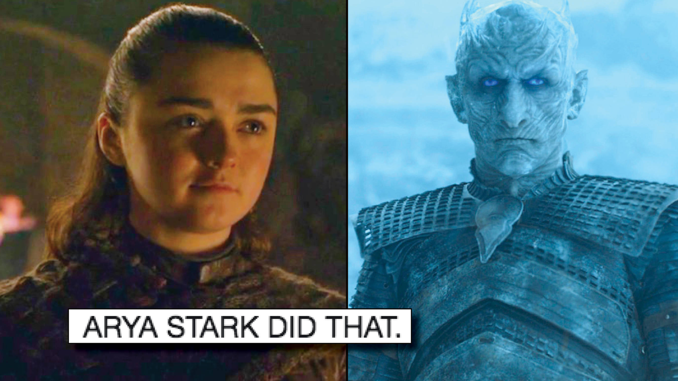 Arya Stark Killed The Night King On Game Of Thrones And The Memes