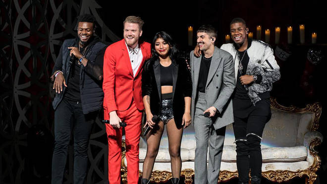 Pentatonix performing with new bass Matt Sallee